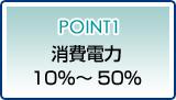 ポイント1消費電力10%~50%